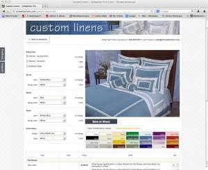 Custom Linen Section