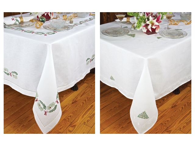 Holly Days Merry Merry Tablecloth