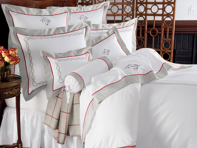 Bexhill Metropolitan Bed Linen: Monigramed Luxury Embroidered Sheets At Alzheimers-prions.com
