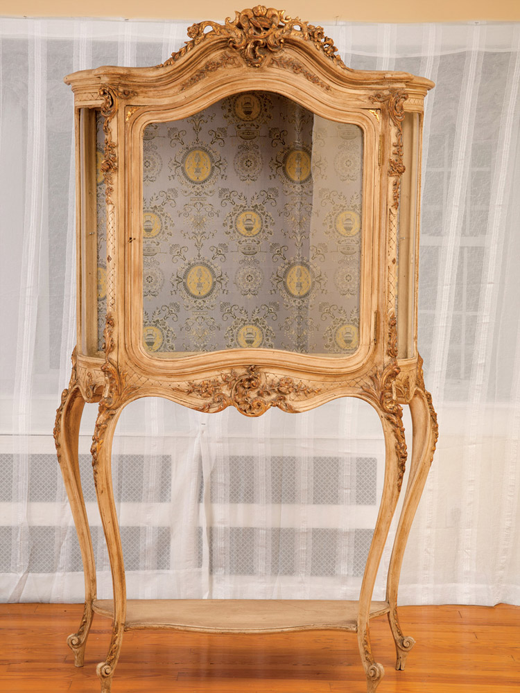 French Antique Glass Cabinet