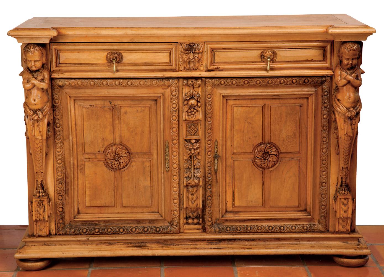 French Antique Renaissance Style Buffet