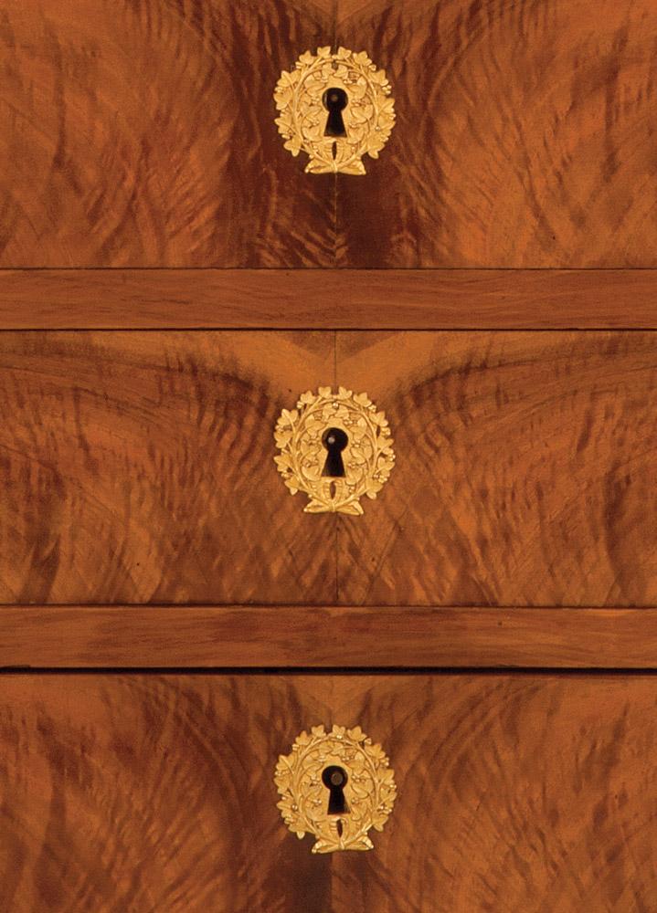 French mahogany Empire Secretaire