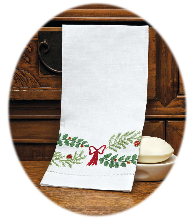 Holly Days Guest Towel
