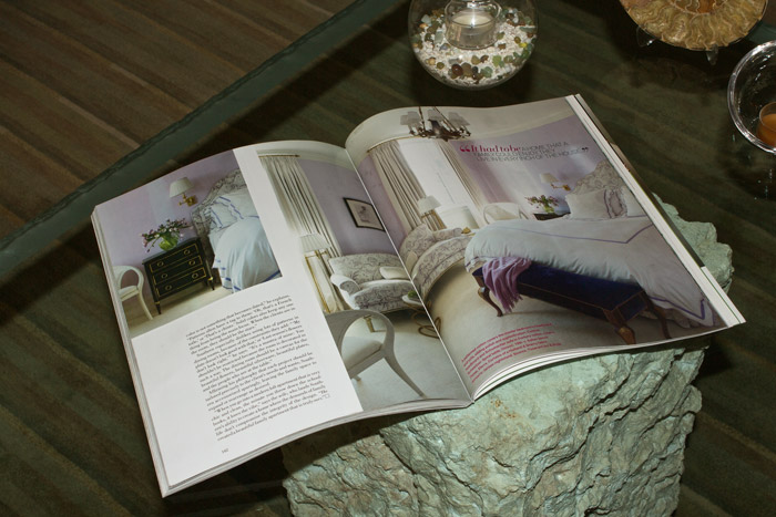 Schweitzer Linens as Featured in Home Decor Magazines