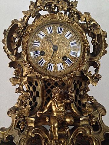 Antique French Mantel Clock