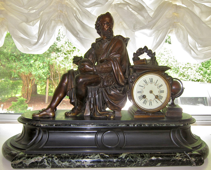 Galileo Black Mantel Clock