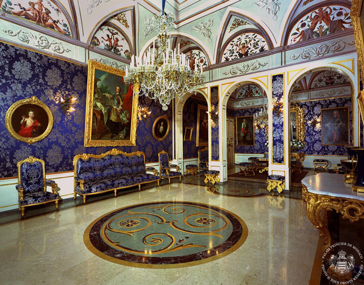 Captivating The Blue Room Inside The Princes Palace: The Princes Palace Is The Private  Residence Of