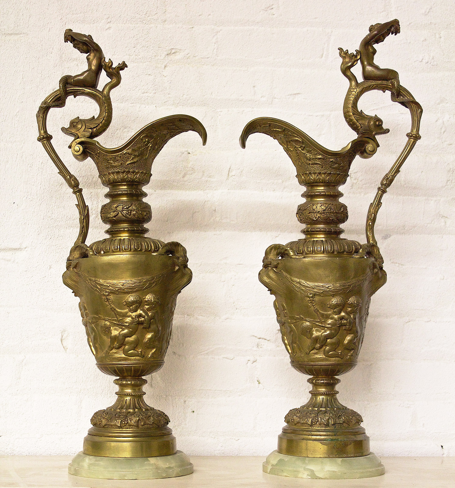 Pitcher Bronze pair F.Barbedienne