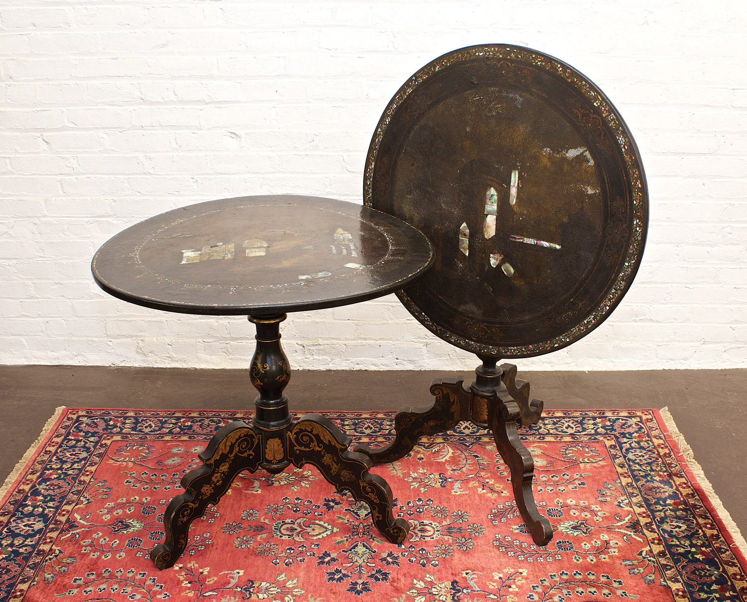Table Round Victorian Inlaid