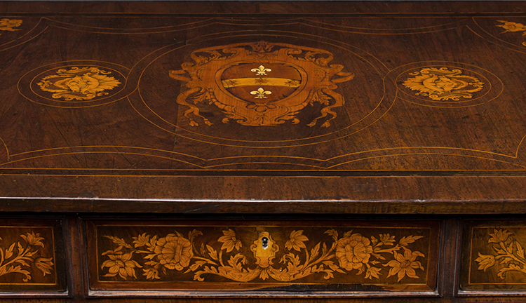 Desk-with-Marquetry_5-Drawer_Top_1038