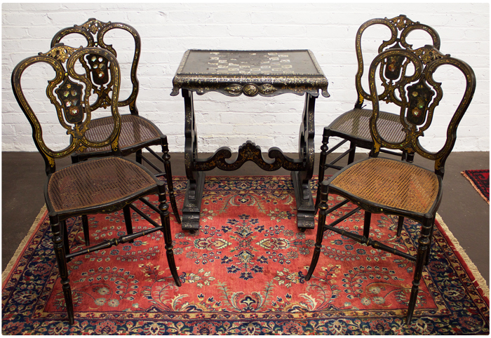 Game-Table-Victorian-w-4-Chairs_3183