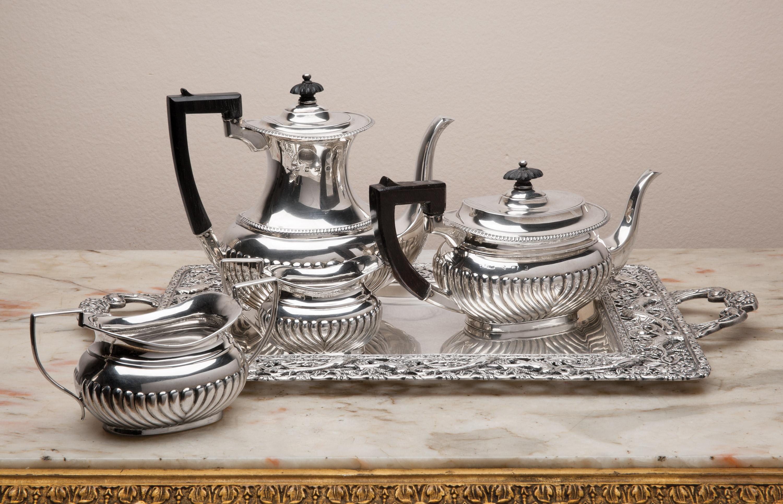 silver teapot set