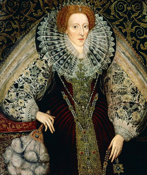 Elizabeth I Image attributed to John Bettes the Younger via Wikimedia Commons