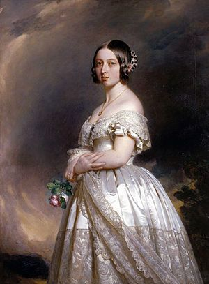 Queen Victoria, 1847 Portrait painted by Franz Xaver Winterhalter, 1847 via Wikimedia Commons