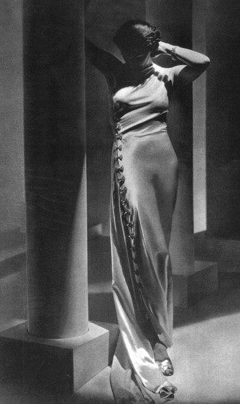 Madeleine Vionnet, Evening Dress, 1936. From The Red List.