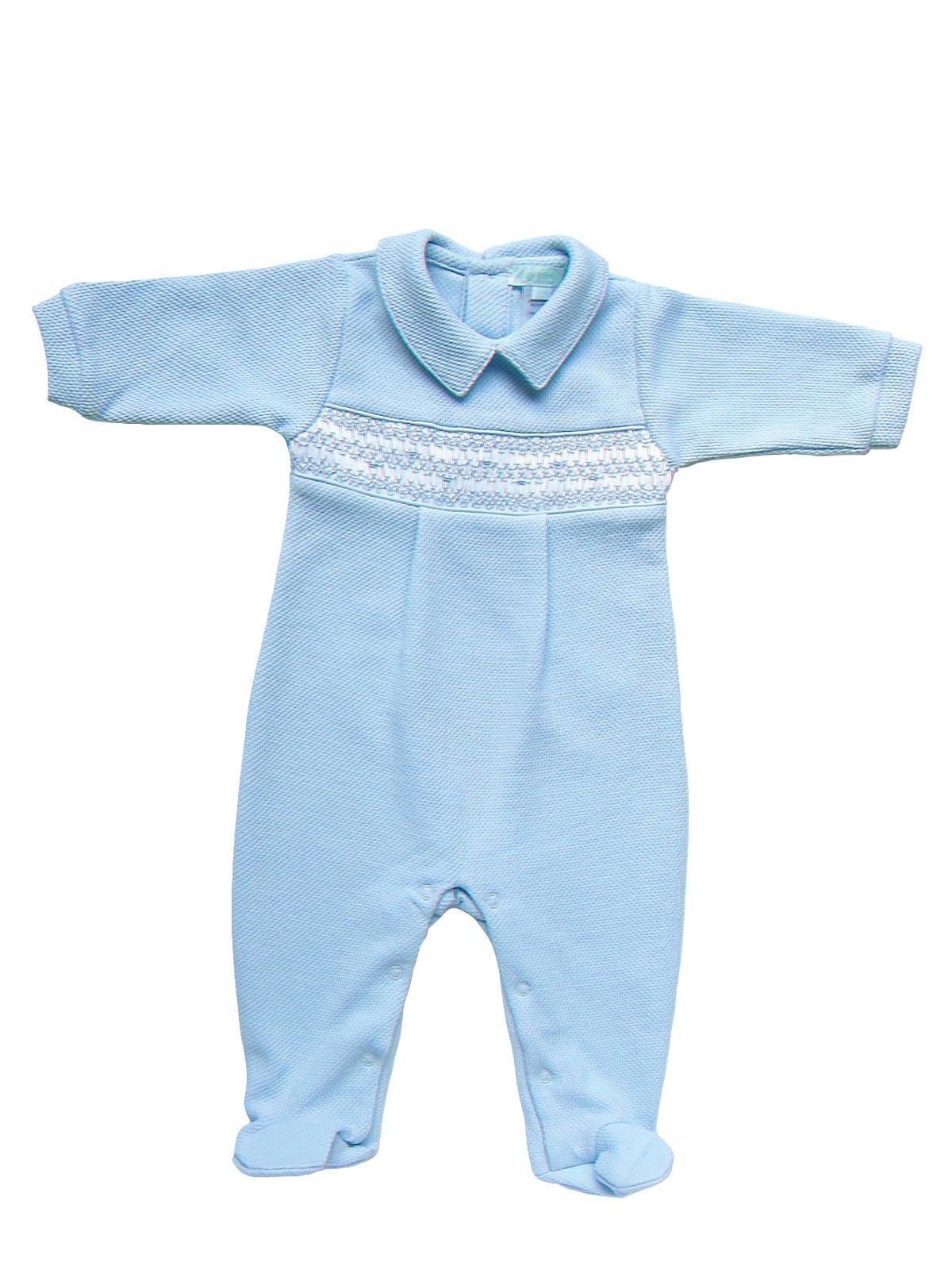 a75a11e9c9d6 Kieran - Piqué Smocked Jumpsuit - Baby - Schweitzer Linen