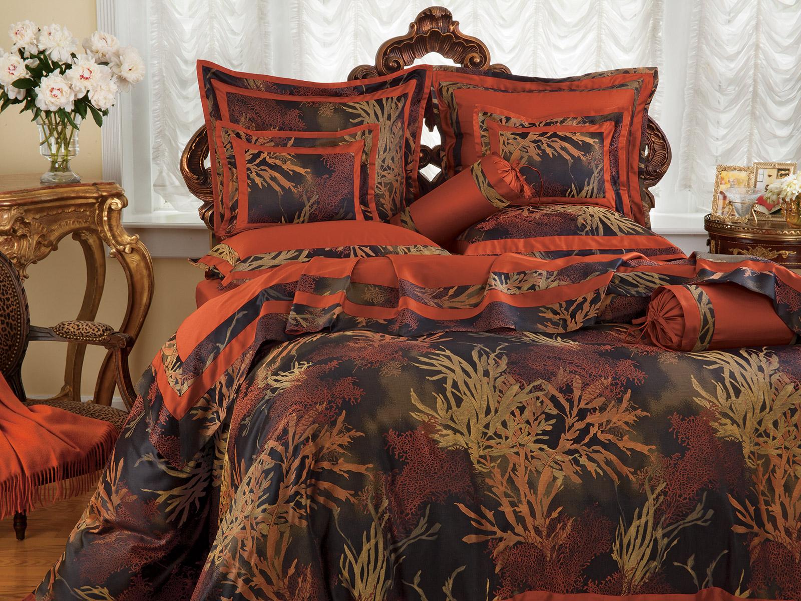 Coral Reef Luxury Bedding Italian Bed Linens Schweitzer Linen