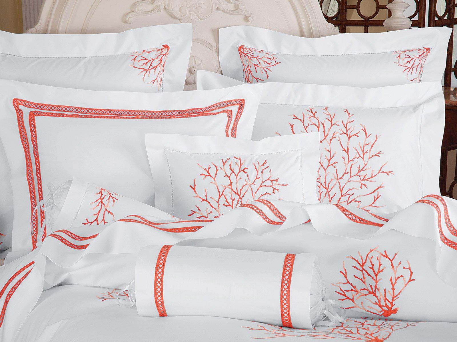 Coral Sea Luxury Bedding Italian Bed Linens