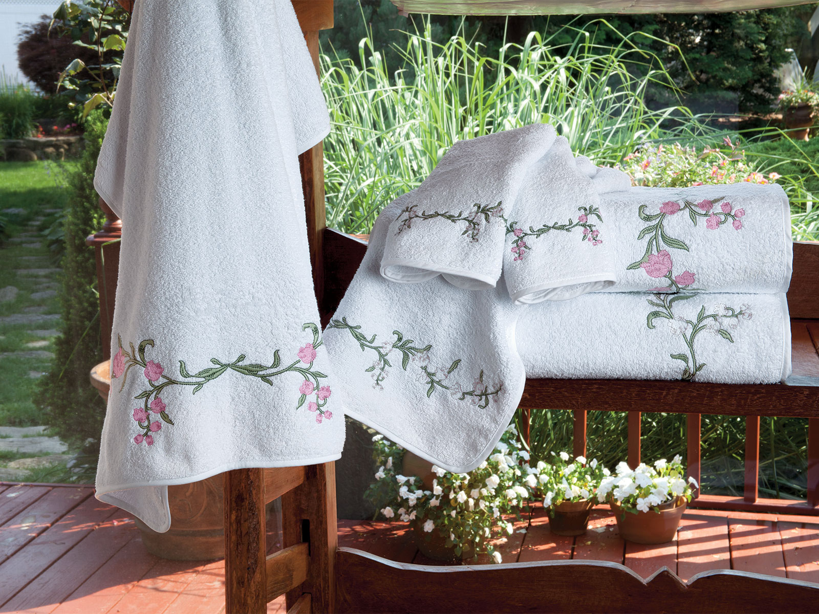 Fleur De Muguet Towels Luxury Bath Linen Schweitzer Linen