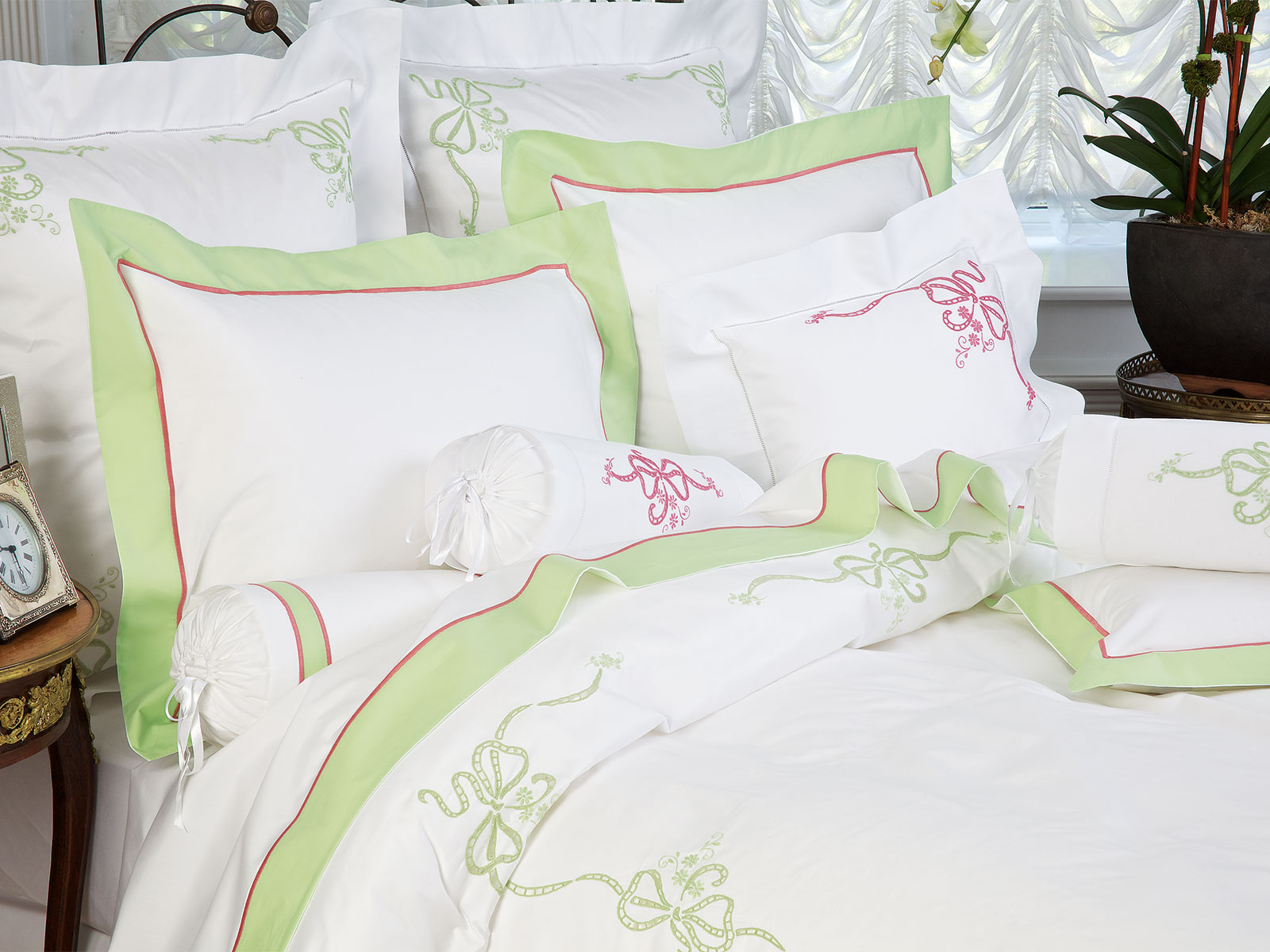French Bow Luxury Bedding Italian Bed Linens