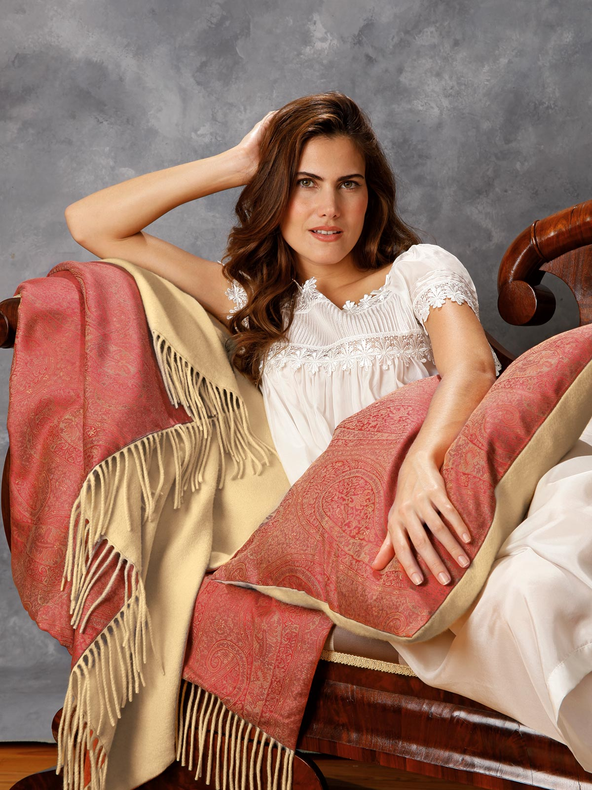This Italian It Girl Is Your New Style Muse: Nobility Throw & Pillow