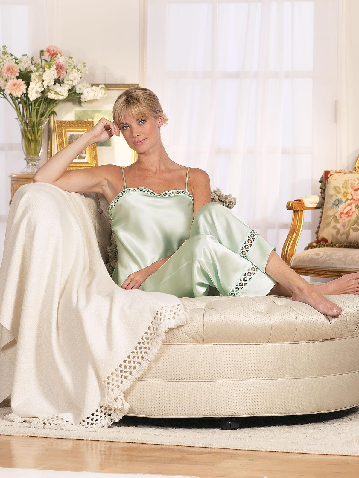 8c4a20db04 Simone Pajamas - Luxury Pajamas - Luxury Nightwear - Schweitzer Linen