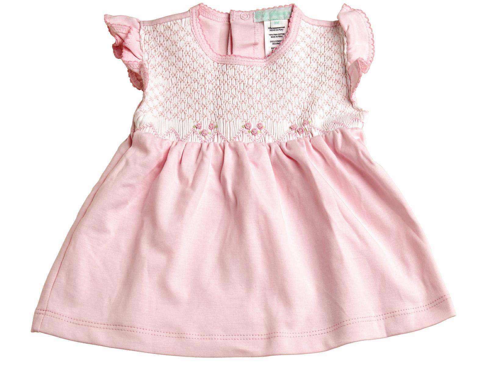 d7882a97b92a Lilian - Smocked Placket Dress   Bloomers - Baby - Schweitzer Linen