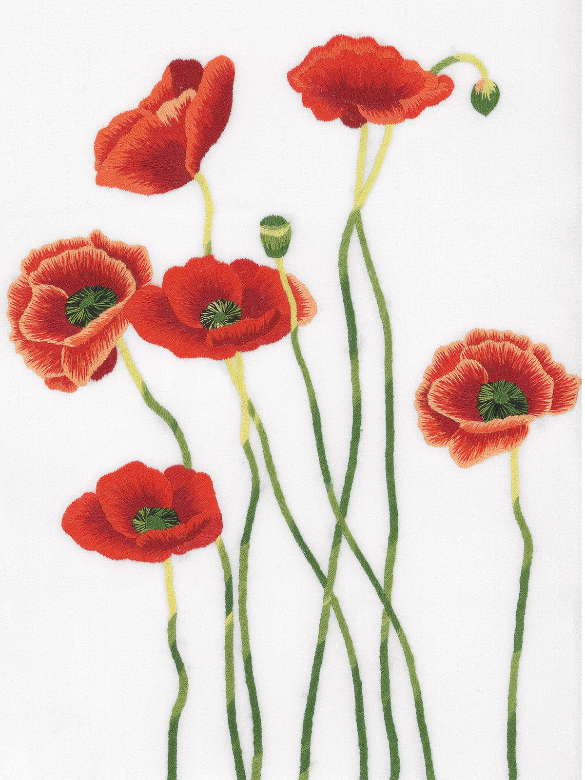Poppies In Bloom Luxury Bedding Italian Bed Linens