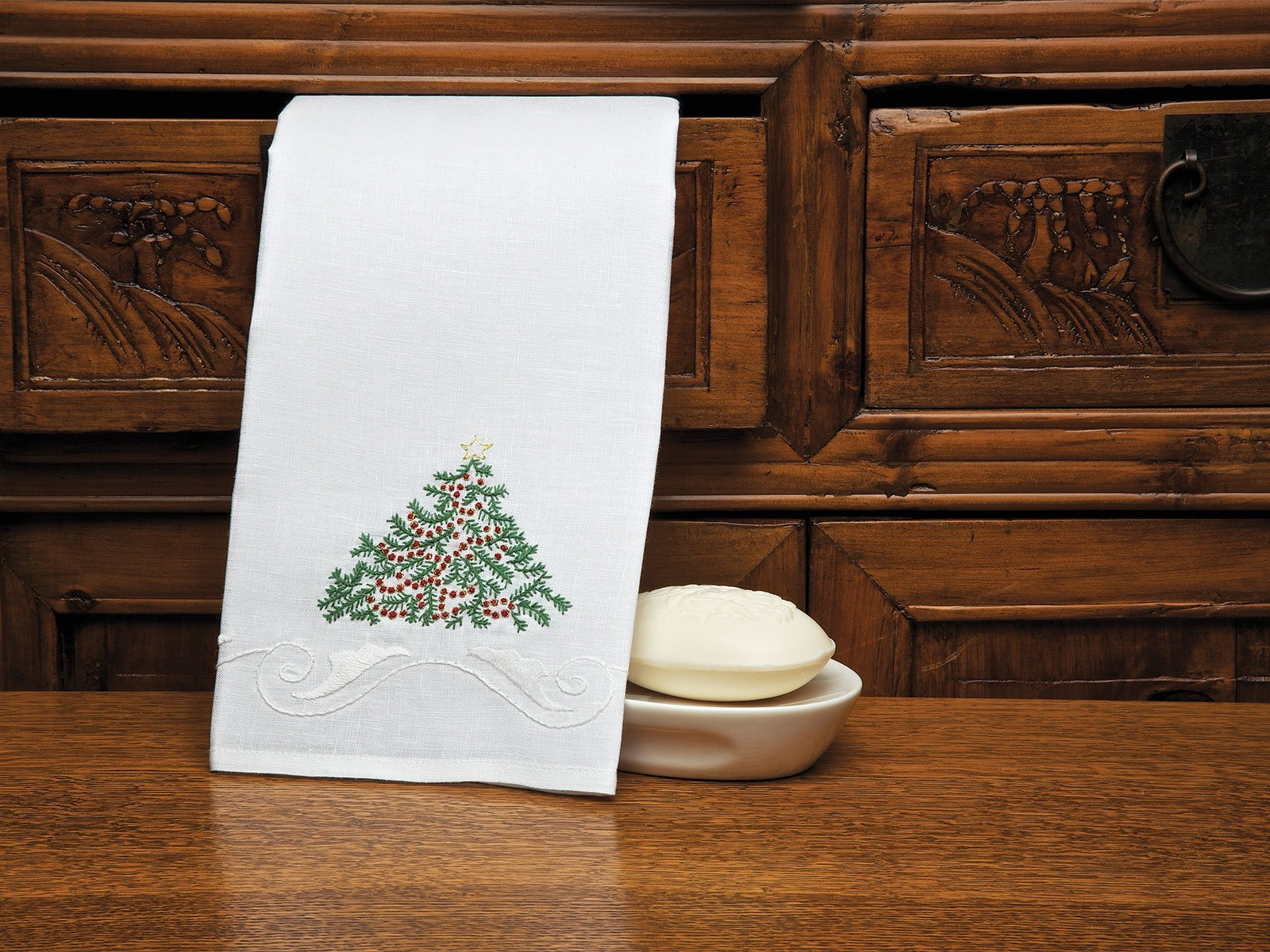 merry merry guest towels - decorative guest towels - luxury bath